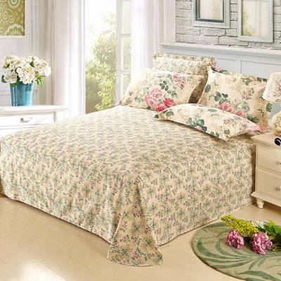 12868全棉单品系列  直角床单 160*230cm(直角) 芬芳花语