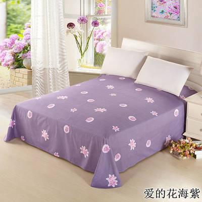12868全棉单品系列  直角床单 230*250cm(直角) 爱的花海紫