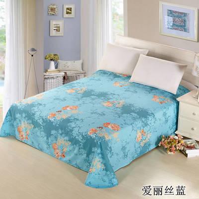 12868全棉单品系列  直角床单 160*230cm(直角) 爱丽丝蓝