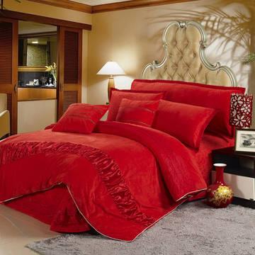 玫瑰绒套件冬季保暖玫瑰绒四件套