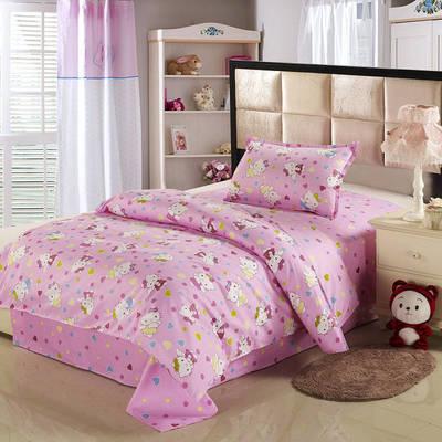 12868全棉三件套  纯棉学生宿舍三件套(总) 单人床三件套 亲亲宝贝-粉