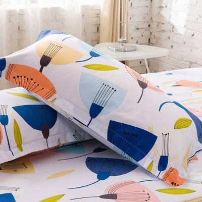全棉多规格系列(单品枕套)  一对装 48cmX74cm --2个装 荷塘月色