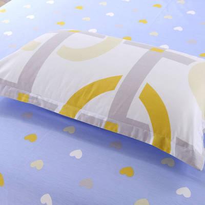 全棉多规格系列(单品枕套)  一对装 48cmX74cm --2个装 暖暖时光