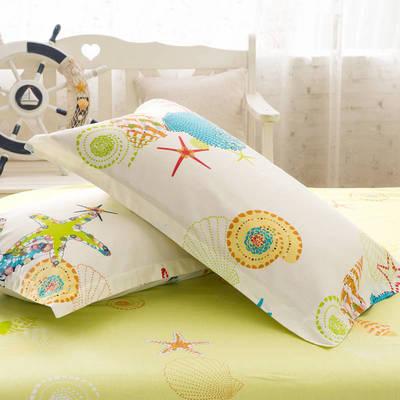 全棉多规格系列(单品枕套)  一对装 48cmX74cm --2个装 夏威夷