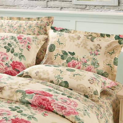 全棉多规格系列(单品枕套)  一对装 48cmX74cm --2个装 芬芳花语