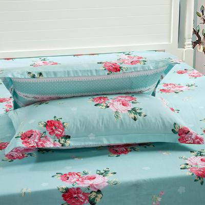全棉多规格系列(单品枕套)  一对装 48cmX74cm --2个装 沁香花语