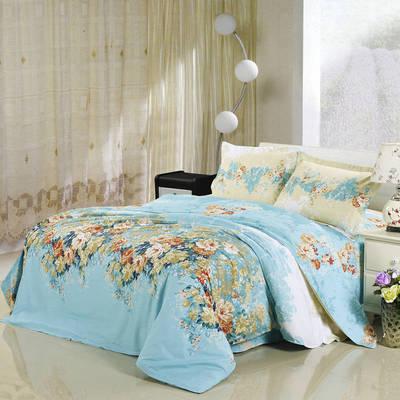 全棉12868四件套(总-全部花型) 200*230cm 爱丽丝-蓝