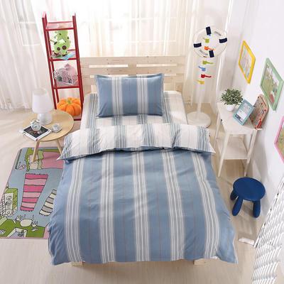 纯棉133*72全棉三件套 1.0m(3.3英尺)床 高雅生活-蓝