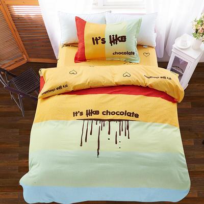 大版三件套纯棉平网 160*210cm LOVE巧克力