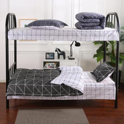 12868全棉三件套  纯棉学生宿舍三件套(总) 单人床三件套 绅士风格