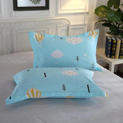 全棉多规格系列(单品枕套)全棉枕套  一对装 48cmX74cm --2个装 蓝天白云