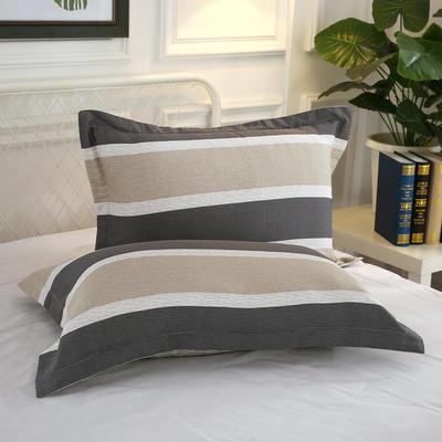 全棉多规格系列(单品枕套)  一对装 48cmX74cm --2个装 青春如歌-咖