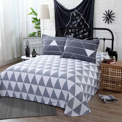 12868全棉单品系列  直角床单 230*250cm(直角) 塔罗-灰
