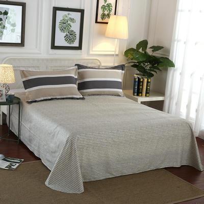 12868全棉单品系列  直角床单 160*230cm(直角) 青春如歌-咖