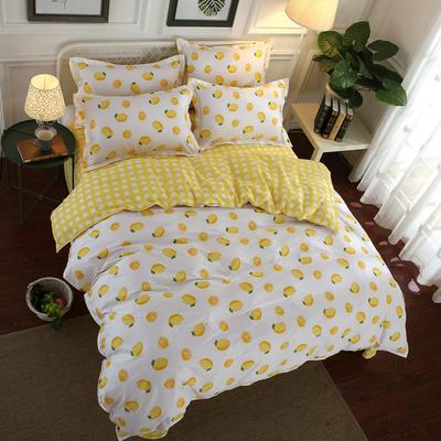 全棉12868四件套(总-全部花型) 200*230cm 一颗柠檬