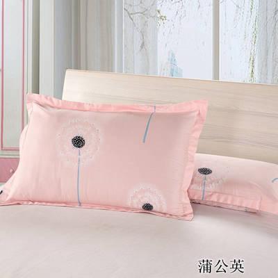 2020新款12868纯棉单品枕套 48cmX74cm/对 蒲公英