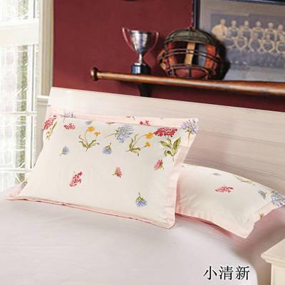2020新款12868纯棉单品枕套 48cmX74cm/对 小清新