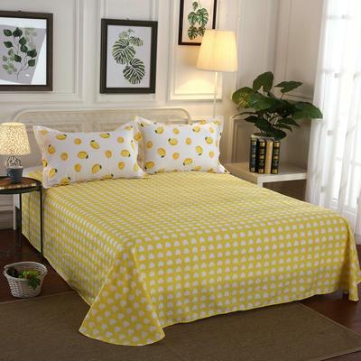 2020新款12868纯棉单品床单 160cmx230cm 一颗柠檬