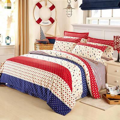 四件套床单款2021新款128X68全棉四件套 1.8m床单款四件套 亲亲宝贝