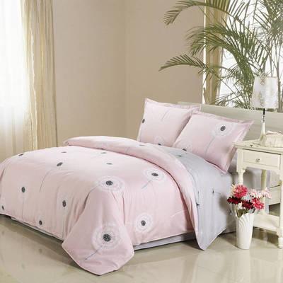 四件套床单款2021新款128X68全棉四件套 1.8m床单款四件套 蒲公英