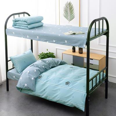 新款13372全棉三件套 1.2m床单款三件套 伯爵-湖蓝