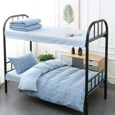 2020新款13372全棉三件套 1.2m床单款三件套 风尚-蓝