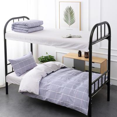 2020新款13372全棉三件套 1.2m床单款三件套 格调-紫