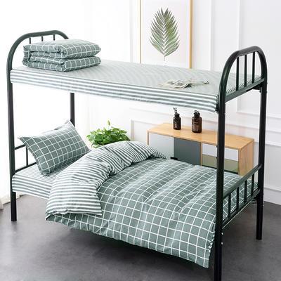 2020新款13372全棉三件套 1.2m床单款三件套 优雅格调-绿