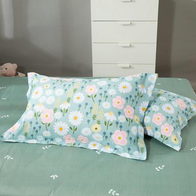 2020新款12868纯棉单品枕套 48cmX74cm/对 清新花语