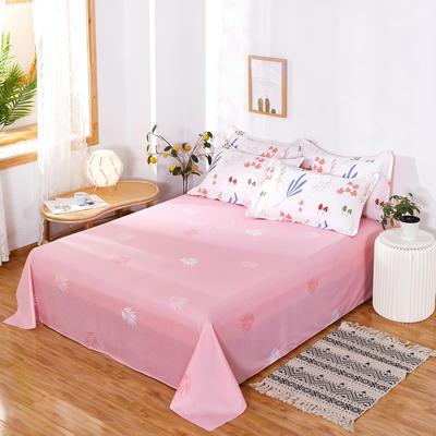 2020新款12868纯棉单品床单 160cmx230cm 森物语