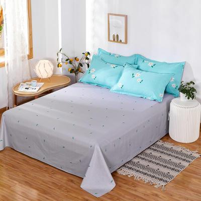 2020新款12868纯棉单品床单 160cmx230cm 小雏菊 蓝
