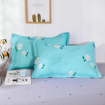 2020新款12868纯棉单品枕套 48cmX74cm/对 小雏菊 蓝