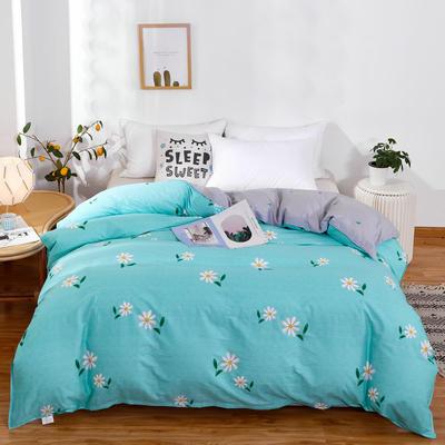 单品被套2020新款12868纯棉单品被套全棉多规格 160x210cm 小雏菊 蓝