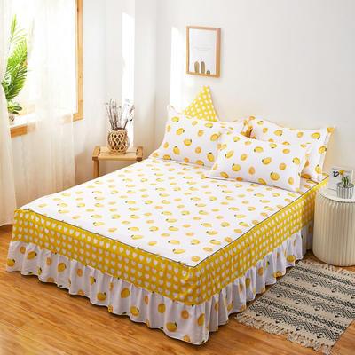 2020新款12868单品全棉床裙 180cmx200cm 一颗柠檬