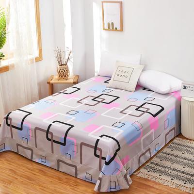2020新款128X68全棉单品贴边床单 250cmx270cm 彩云阁