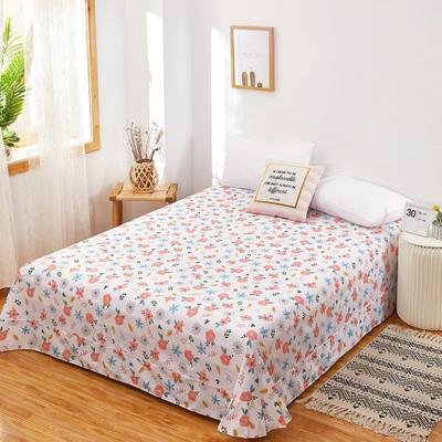 2020新款128X68全棉单品贴边床单 250cmx270cm 春意