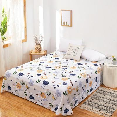 2020新款128X68全棉单品贴边床单 250cmx270cm 花恋