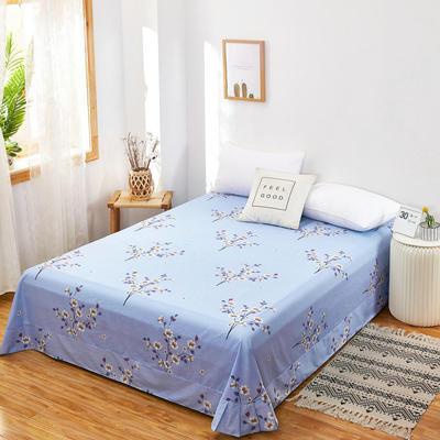 2020新款128X68全棉单品贴边床单 250cmx270cm 空谷幽兰