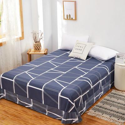 2020新款128X68全棉单品贴边床单 250cmx270cm 蓝韵阁