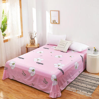 2020新款128X68全棉单品贴边床单 250cmx270cm 蜜语