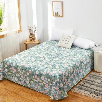 2020新款128X68全棉单品贴边床单 250cmx270cm 清新花语