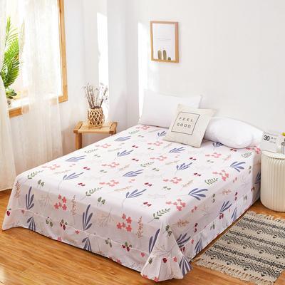 2020新款128X68全棉单品贴边床单 250cmx270cm 森物语