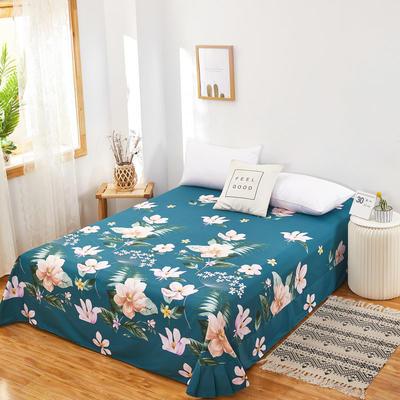 2020新款128X68全棉单品贴边床单 250cmx270cm 深林其境