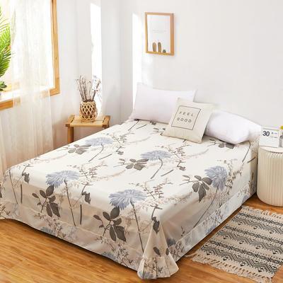 2020新款128X68全棉单品贴边床单 250cmx270cm 似水流年