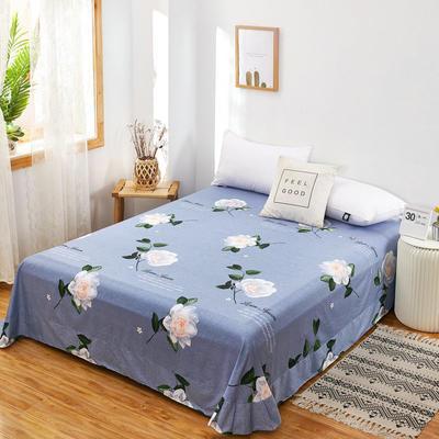 2020新款128X68全棉单品贴边床单 250cmx270cm 桅子飘香