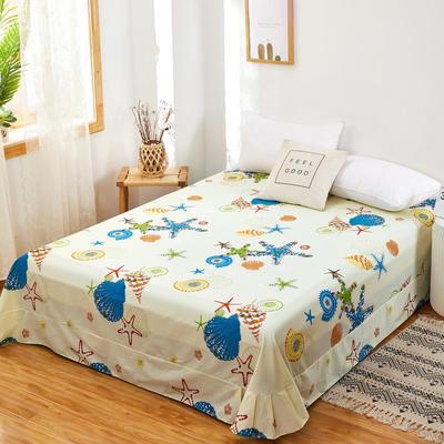 2020新款128X68全棉单品贴边床单 250cmx270cm 夏威夷