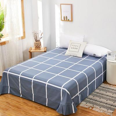 2020新款128X68全棉单品贴边床单 250cmx270cm 休闲午后