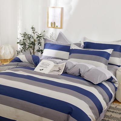 四件套床单款2021新款128X68全棉四件套 1.8m床单款四件套 绅士之约