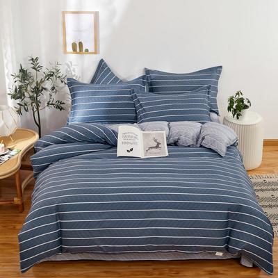 四件套床单款2021新款128X68全棉四件套 1.8m床单款四件套 悠闲时光