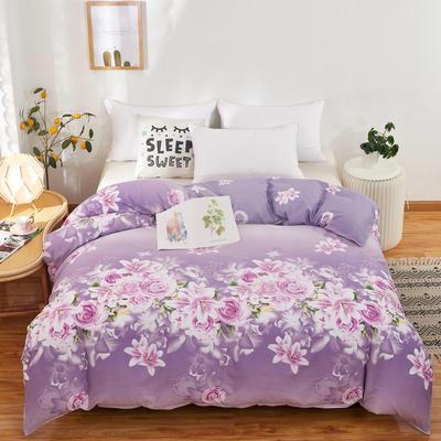 12868全棉多规格系列(单品被套) 160cmx210cm 爱的花海紫
